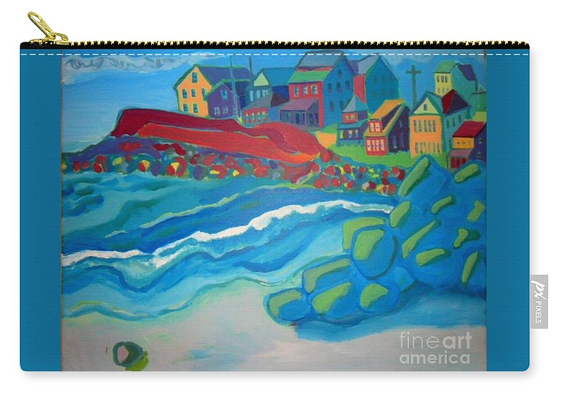 Boar's Head Carry-all Pouch featuring the painting Boar's Head by Debra Bretton Robinson