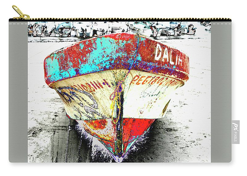 Boat Carry-all Pouch featuring the photograph Boat Dalia, Puerta Vallarta, Mexico by Lila Bahl