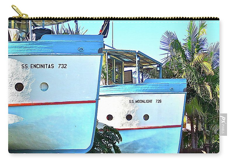 Boats Carry-all Pouch featuring the photograph Boat Houses by Bridgette Gomes