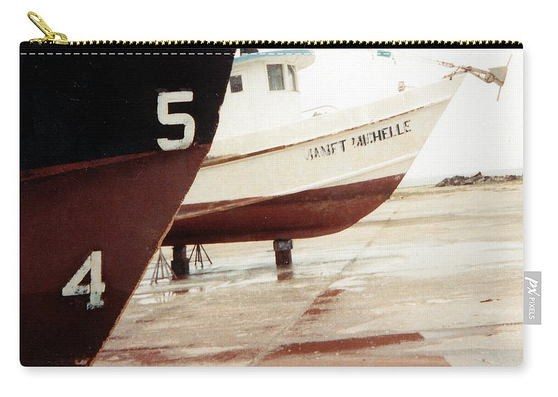 Boat Reflection Carry-all Pouch featuring the photograph Boat Reflection 2 by Cindy New