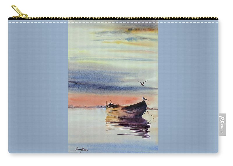 Boat Carry-all Pouch featuring the painting Boat by Shaima Adnan