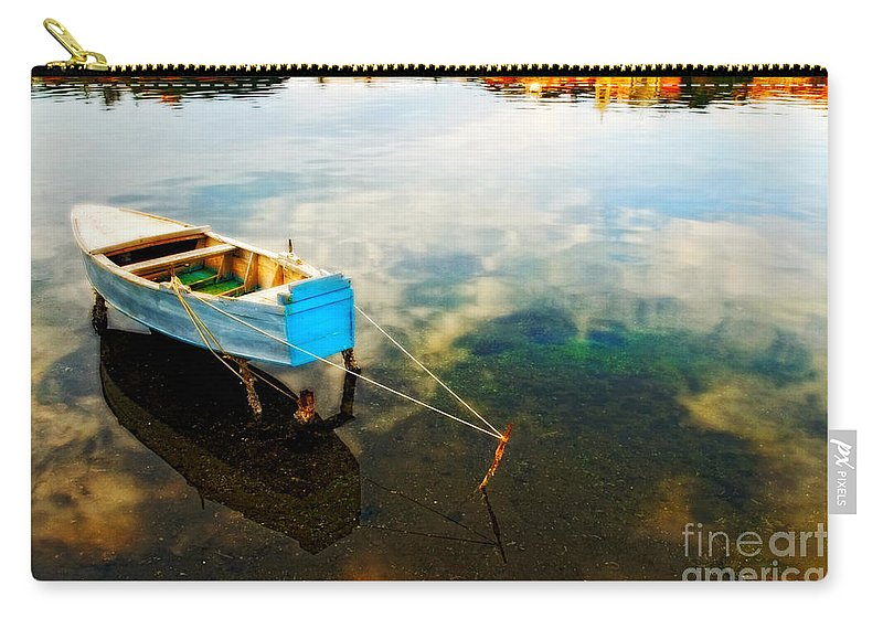 Boat Carry-all Pouch featuring the photograph Boat by Silvia Ganora