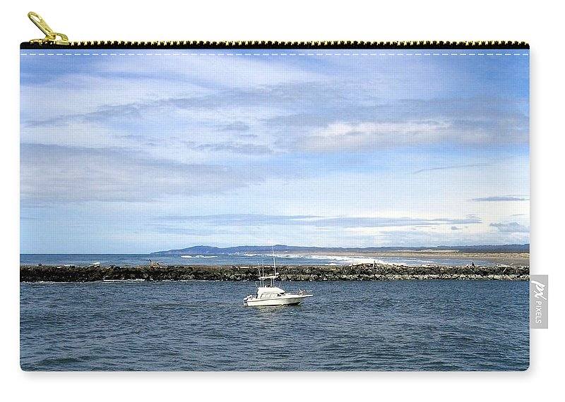 Boat Carry-all Pouch featuring the photograph Boating At Bandon by Will Borden