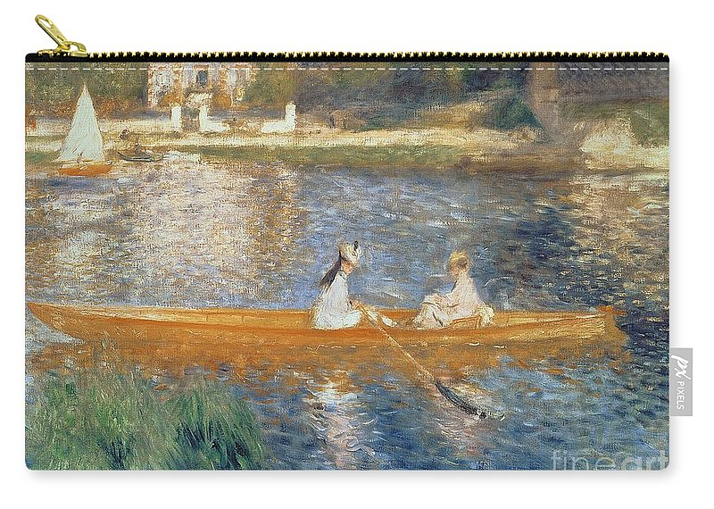Boating On The Seine Carry-all Pouch featuring the painting Boating on the Seine by Pierre Auguste Renoir