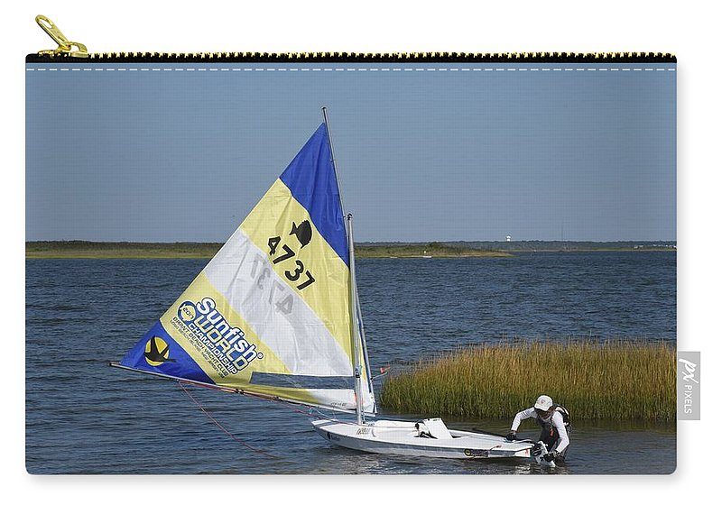 Boats Carry-all Pouch featuring the photograph Boats 170 by Joyce StJames