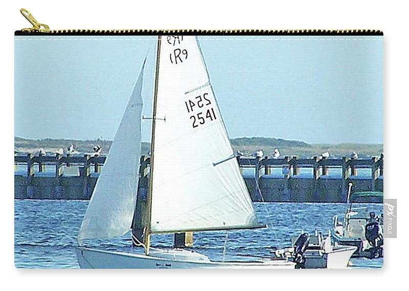 Boats Carry-all Pouch featuring the photograph Boats At Provincetown by Marilyn Holkham