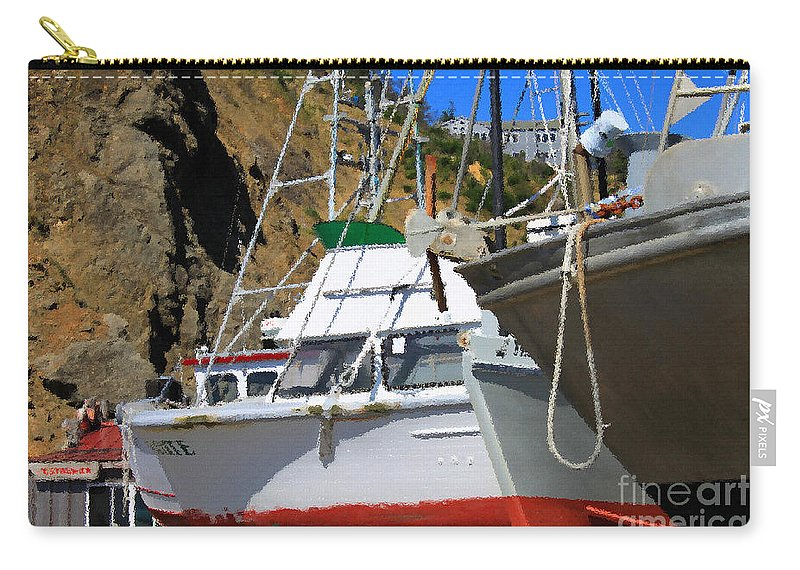 Anchor Carry-all Pouch featuring the photograph Boats In Drydock by James Eddy