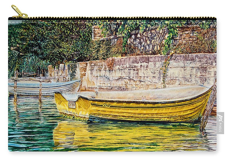 Carry-all Pouch featuring the painting Boats by Michel Angelo Rossi
