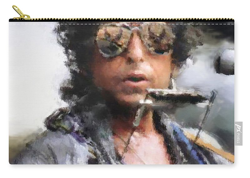 Dillon Carry-all Pouch featuring the photograph Bob Dillon by Henry J Yasses
