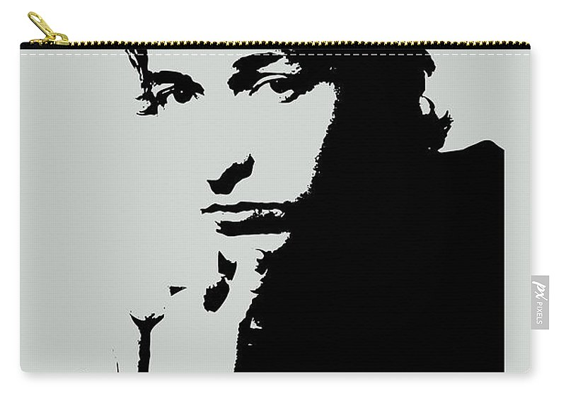 Bob Dylan Carry-all Pouch featuring the painting Bob Dylan Poster Print Quote - The Times They Are A Changin by Beautify My Walls