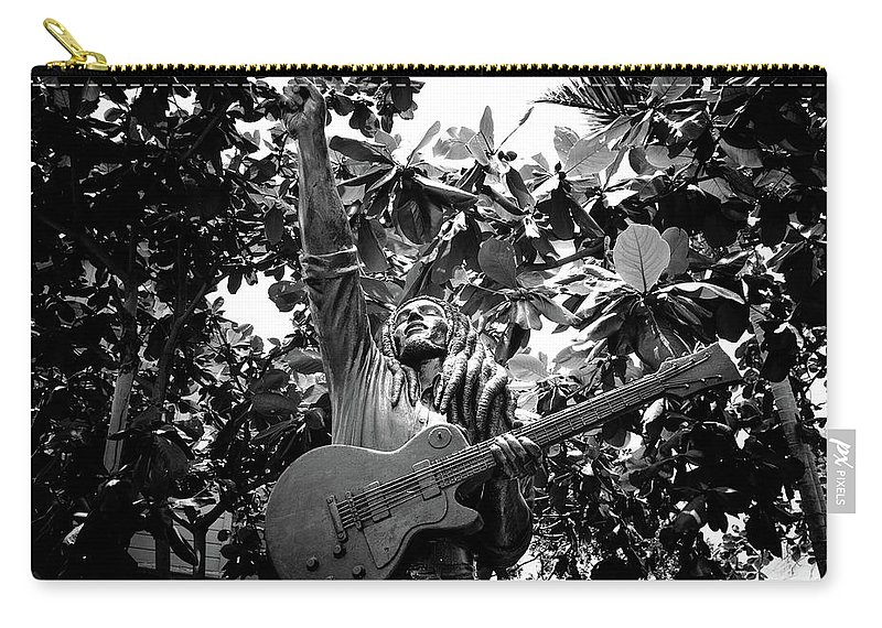 Bob Marley Carry-all Pouch featuring the photograph Bob Marley by Ferry Zievinger