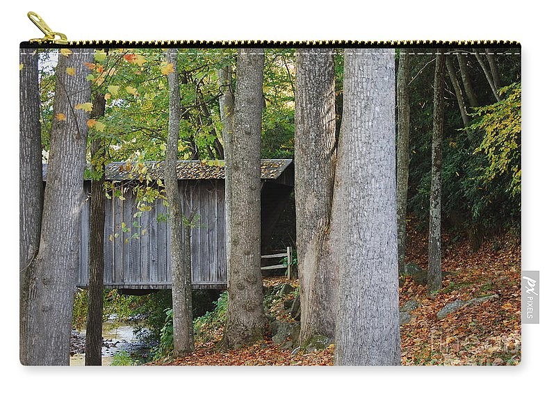 Bridge Carry-all Pouch featuring the photograph Bob White by Eric Liller