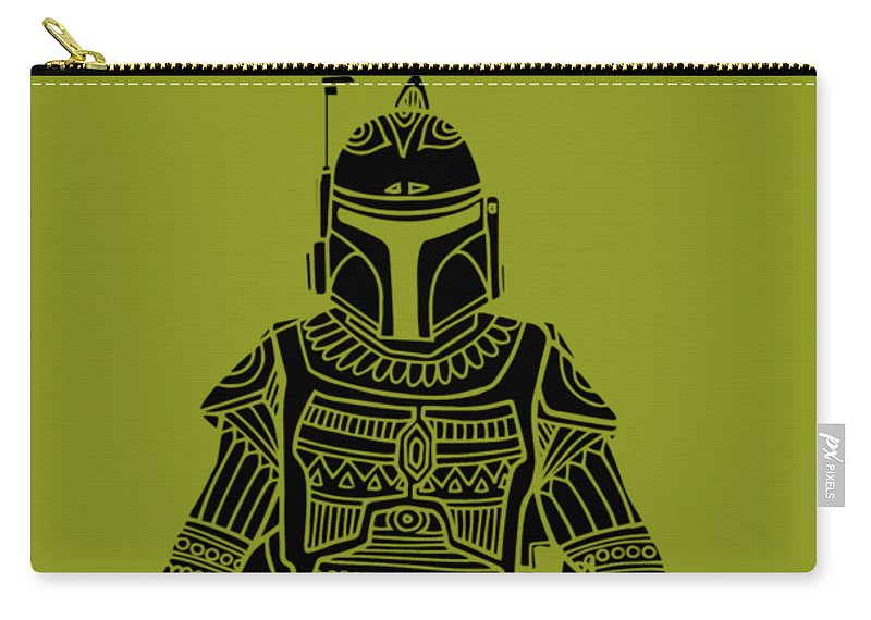 Boba Fett Star Wars Art Green Carry All Pouch For Sale By Studio