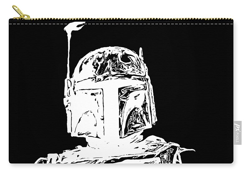 Star Wars Carry-all Pouch featuring the digital art Boba Fett Tee by Edward Fielding