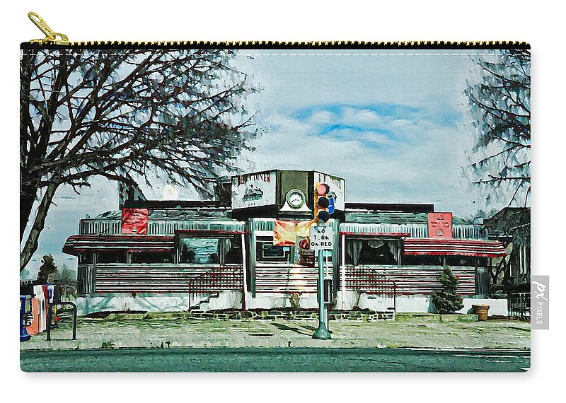 Bobs Carry-all Pouch featuring the photograph Bob's Diner - Roxborough by Bill Cannon