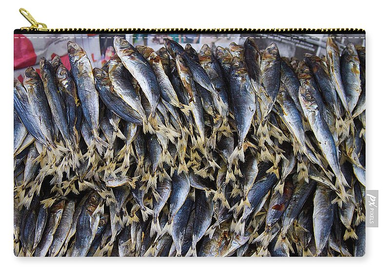 stock Images Carry-all Pouch featuring the photograph Bodboron Filipino Dried Fish by James BO Insogna
