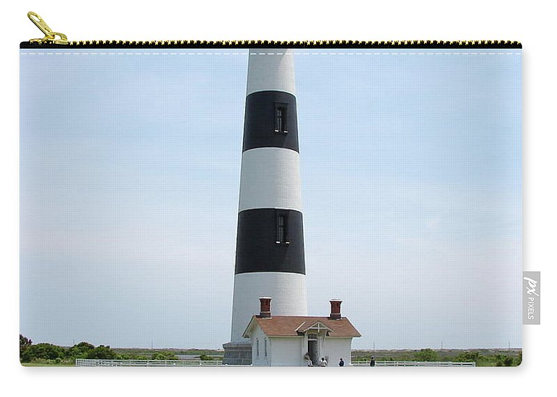 Bodie Lighthouse Carry-all Pouch featuring the photograph Bodie Lighthouse Nags Head Nc II by Brett Winn