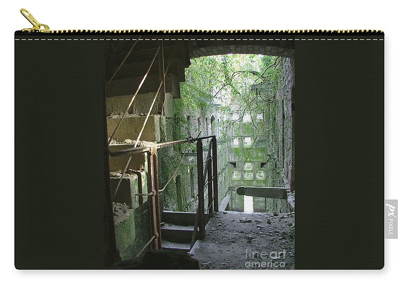 England Carry-all Pouch featuring the photograph Bodmin Gaol Cornwall England by Heather Lennox