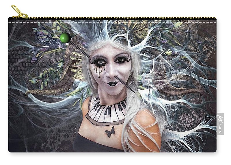 Body Piercing Carry-all Pouch featuring the mixed media Body Piercing by G Berry