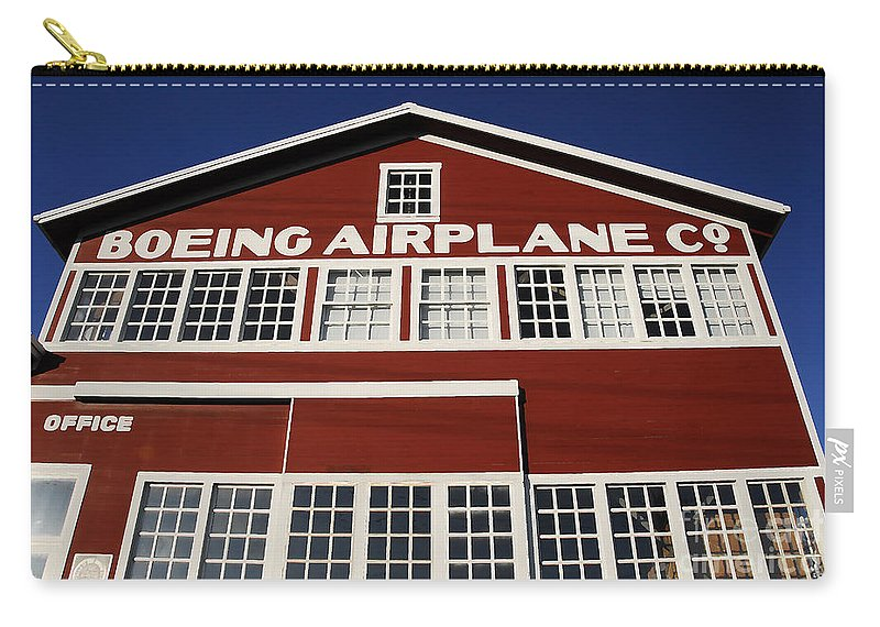 Boeing Carry-all Pouch featuring the photograph Boeing Airplane Hanger Number One by David Lee Thompson