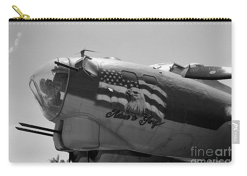 Boeing Carry-all Pouch featuring the photograph Boeing B-17g Flying Fortress Nose Art by Tommy Anderson