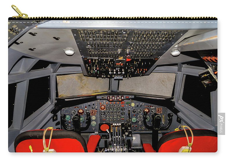 2013 Carry-all Pouch featuring the photograph Boeing C-135 Cockpit by Tommy Anderson