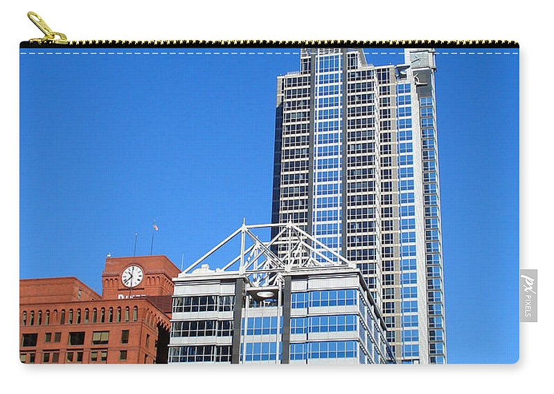 Chicago Carry-all Pouch featuring the photograph Boeing Chicago by DB Artist