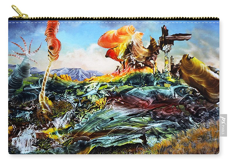Landscape Carry-all Pouch featuring the painting Bogomil Landscape by Otto Rapp