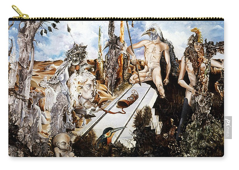 Surrealism Carry-all Pouch featuring the painting Bogomils Court by Otto Rapp
