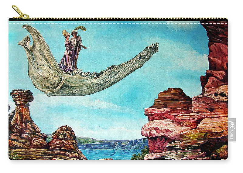 Painting Carry-all Pouch featuring the painting Bogomils Journey by Otto Rapp