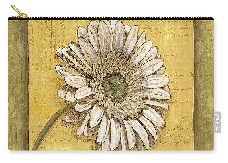 Daisy Carry-all Pouch featuring the painting Bohemian Daisy 1 by Debbie DeWitt