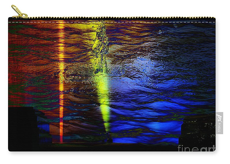 Clay Carry-all Pouch featuring the digital art Boiling Colors by Clayton Bruster