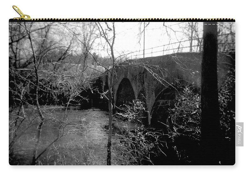 Photograph Carry-all Pouch featuring the photograph Boiling Springs Bridge by Jean Macaluso