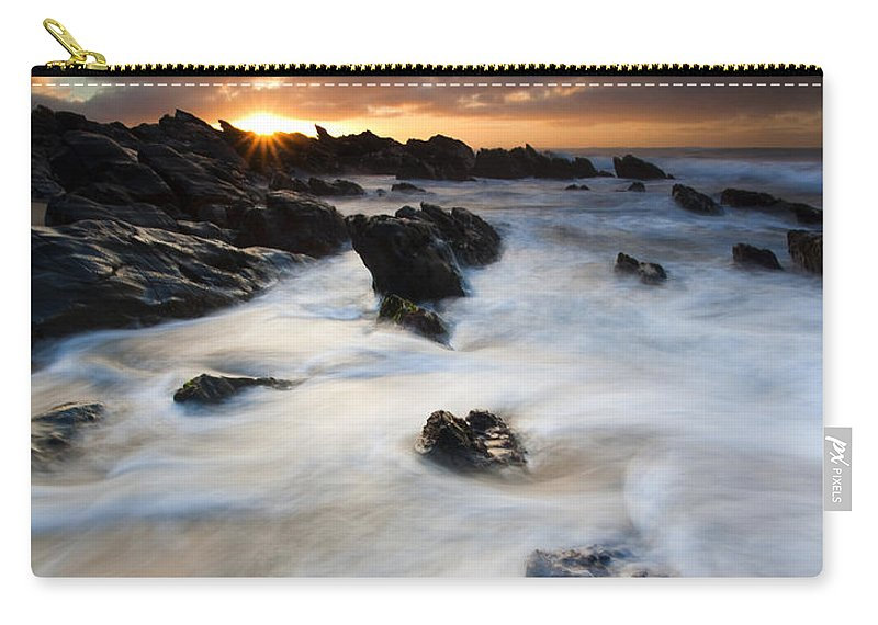 Sunrise Carry-all Pouch featuring the photograph Boiling Tides by Mike Dawson