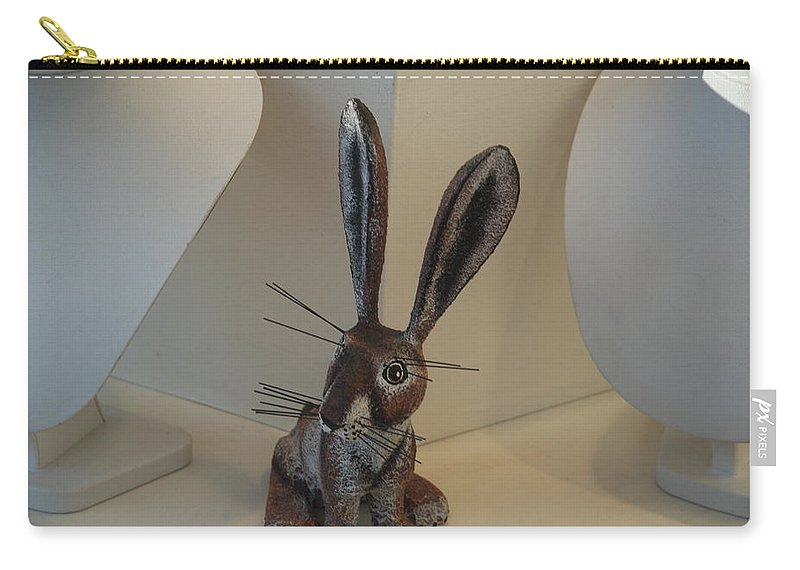 Rabbit Carry-all Pouch featuring the photograph Boink Rabbit by Rob Hans