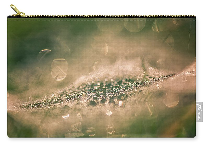 Bokeeh Carry-all Pouch featuring the photograph Bokeeh Of Pearls by Jane Svensson
