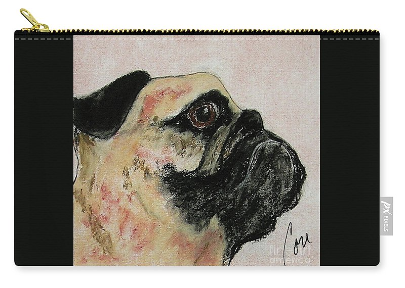 Pastel Carry-all Pouch featuring the mixed media Bold Determination by Cori Solomon