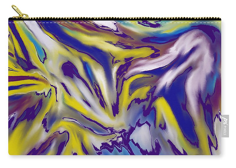 Abstract Carry-all Pouch featuring the digital art Bold by Ian MacDonald