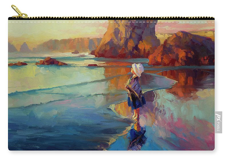 Child Carry-all Pouch featuring the painting Bold Innocence by Steve Henderson