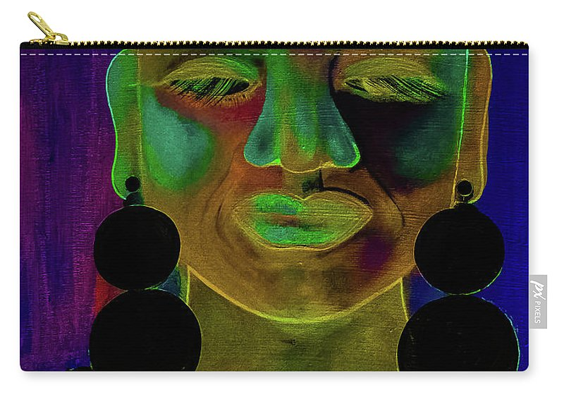 Woman Carry-all Pouch featuring the digital art Boldly Me #1 by Carrine Lovelace