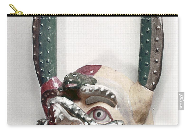 Artifact Carry-all Pouch featuring the photograph Bolivia: Native Mask by Granger