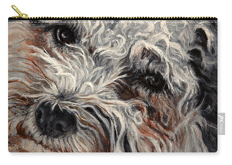 Pets Carry-all Pouch featuring the painting Bolognese Breed by Portraits By NC
