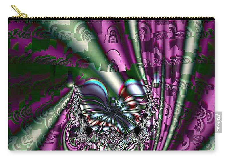 Cloth Carry-all Pouch featuring the digital art Bolts Of Cloth by Ron Bissett