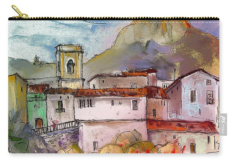 Bolulla Carry-all Pouch featuring the painting Bolulla 02 by Miki De Goodaboom