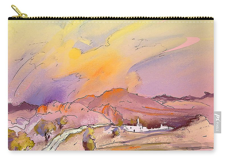 Spain Painting Carry-all Pouch featuring the painting Bolulla 05 by Miki De Goodaboom