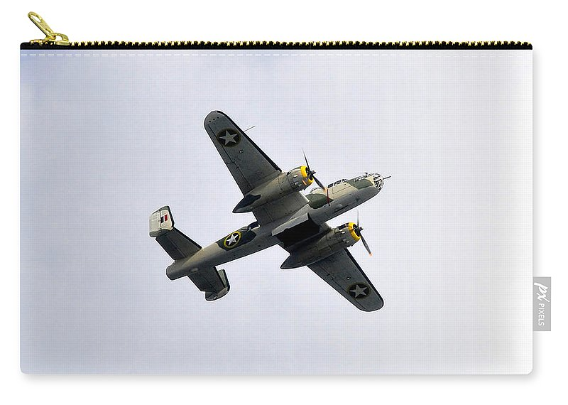 North American B 25 Mitchel Bomber Carry-all Pouch featuring the photograph Bombs Away by David Lee Thompson