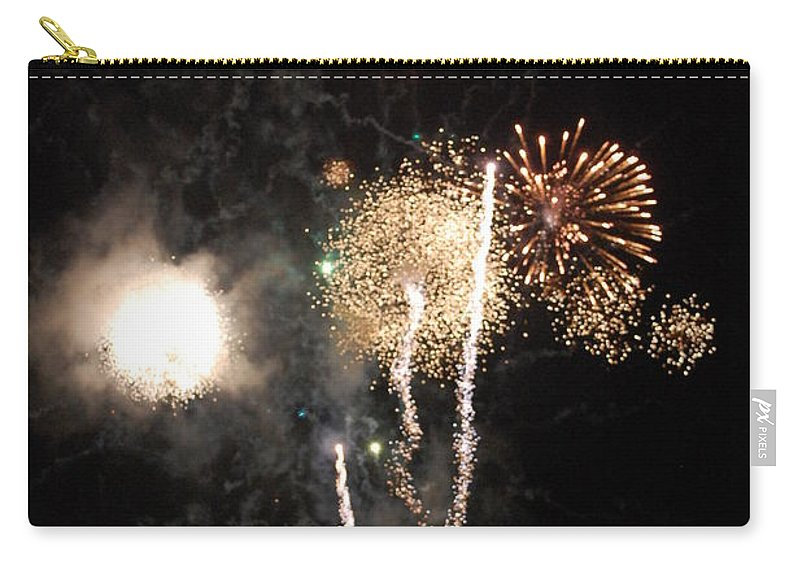 Firwworks Carry-all Pouch featuring the photograph Bombs1 by David Lane