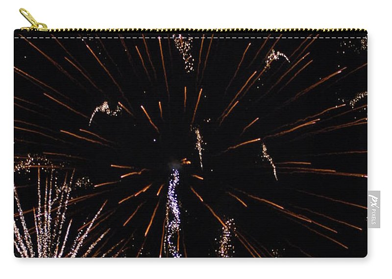 Firwworks Carry-all Pouch featuring the photograph Bombs2 by David Lane