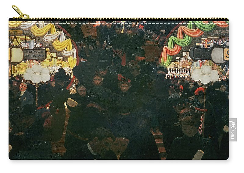 Shops Carry-all Pouch featuring the painting Bon Marche 1898 by Felix Edouard Vallotton