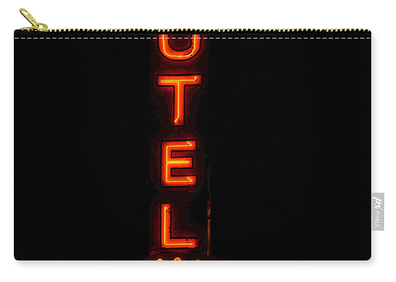 Art Carry-all Pouch featuring the painting Bonanza Lodge Motel by David Lee Thompson
